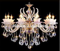 European Zinc Alloy Crystal Lights Crystal Chandeliers Pendant Lamp Dining Room Living Lobby Lamp Lighting E14
