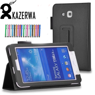 PU Leather Case For Samsung Tab 3 lite 7.0 Tablet Stand Cover Para For Samsung Galaxy Tab3 T110 T111 T113 T116 Fundas Case+Pen цена 2017