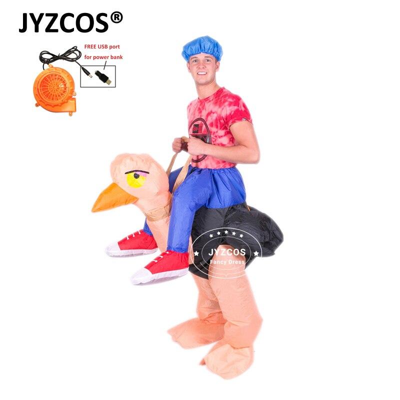 JYZCOS Dospělí Děti Pštrosí Nafukovací kostým Karnevalové - Kostýmy