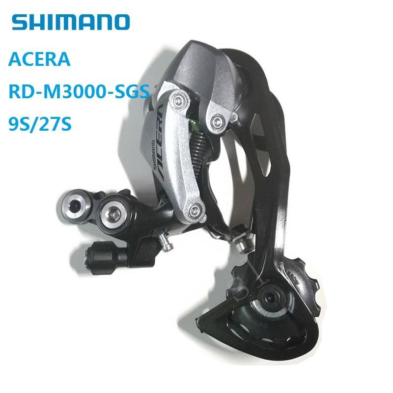 Shimano Acera RD M3000 SGS 9 / 27 Speed Rear Derailleur Long Legs Hidden type Design Original MTB Mountain Bike Accessories цена