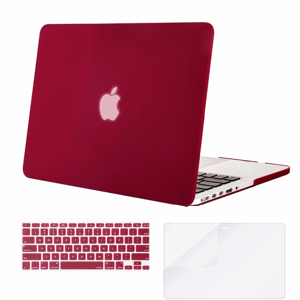 Mosiso Laptop Hard Case for Macbook Pro 13 Retina 2013 2014 2015 model A1502 A1425 + Silicone Keyboard Cover + Screen Protector