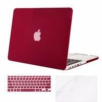 Mosiso capa de silicone para laptop  capa fosca dura para macbook pro 13 retina a1502 a1425 ano 2012-2016 +  teclado de silicone + protetor de tela