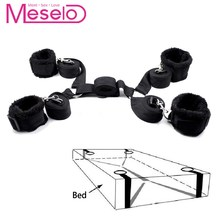 Meselo 1 Set bdsm Bondage Strap Plush Cuffs Sex Toys For Couple Flirting,Under Bed Harness Strap Wrists & Ankle Cuffs Adult Game