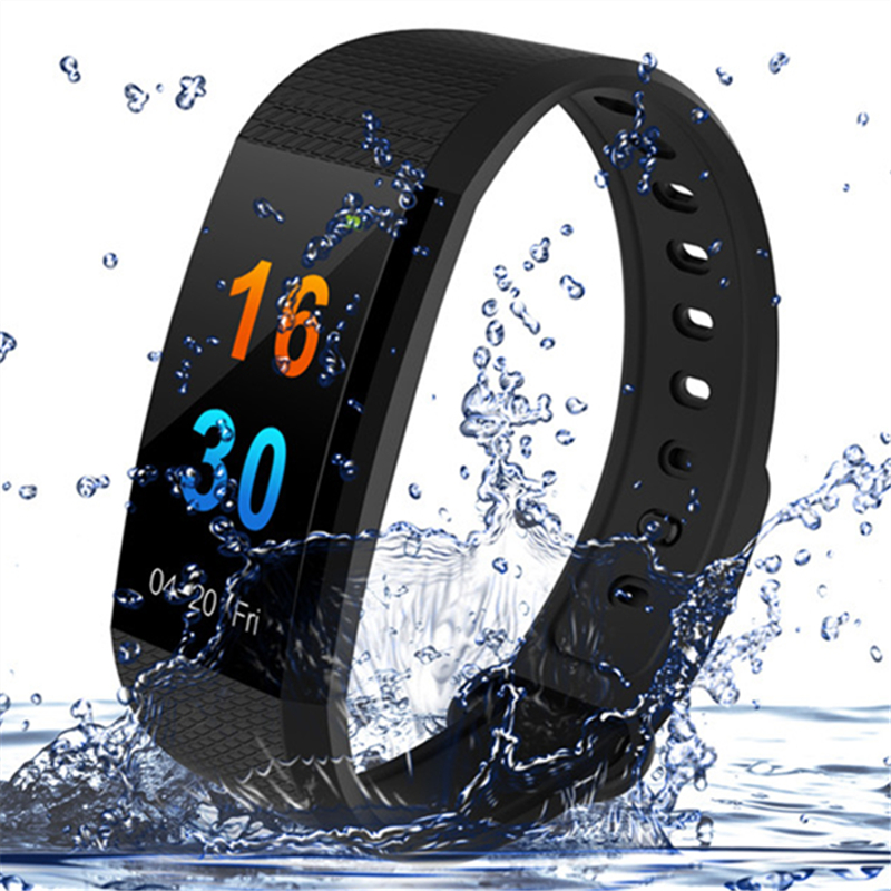 Sports Smart Watch Bracelet I9 Heart Rate Blood Pressure Monitor IP68 Waterproof Bluetooth Color Screen Smart Watch PK MI Band 3 ip68 real swim waterproof smart bracelet heart rate monitor blood pressure oxygen smart band watch for ios android pk mi band 2