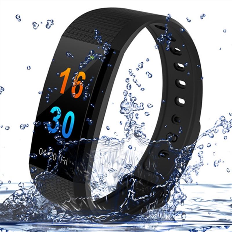 Sports Smart Watch Bracelet I9 Heart Rate Blood Pressure Monitor IP68 Waterproof Bluetooth Color Screen Smart Watch PK MI Band 3 цена 2017