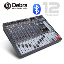 Good quality, Clean sound!!! 12Channels Mixer Digital Audio Mixing dj controller with 48V Phantom Power USB for Recording Stage