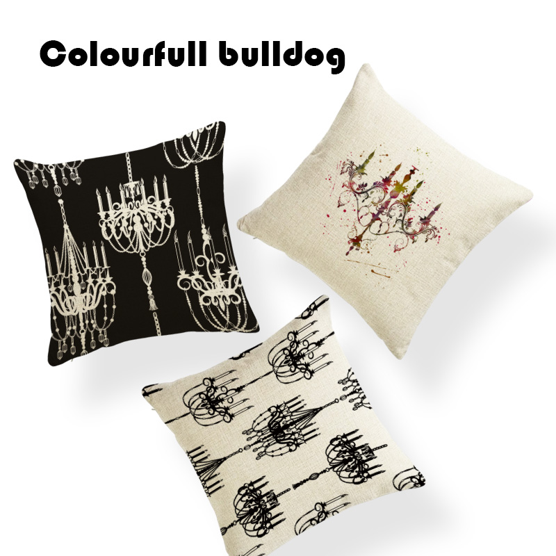 Gifts New European Style Hanging Lights Cushion Cover Vintage Western Floor 45Cm Polyester City Decor Summer Throw Pillow Cover