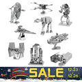 3D Puzzles Laser Cut Jigsaws DIY for Kids Star Wars 3D Nano Metal scale Model Building Architecture educational toy for toddlers