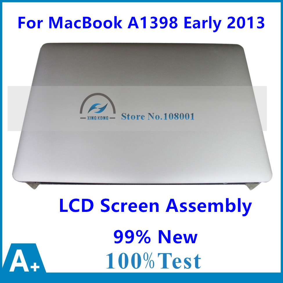 99% New LCD Screen Assembly For Apple MacBook Pro 15 Retina A1398 Mid 2012 MC975 MC976 Early 2013 EMC 2673 661-6529 661-7171 brand new original 661 02532 a1398 full lcd screen assembly mid 2015 for apple macbook pro 15 a1398 full lcd display assembly
