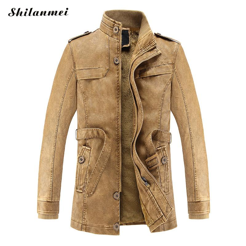 PU Faux Casual Man Jackets Men Leather Jacket Male Coats Winter Warm Hombre Veste Motorcycle Outerwear jaqueta masculino inverno