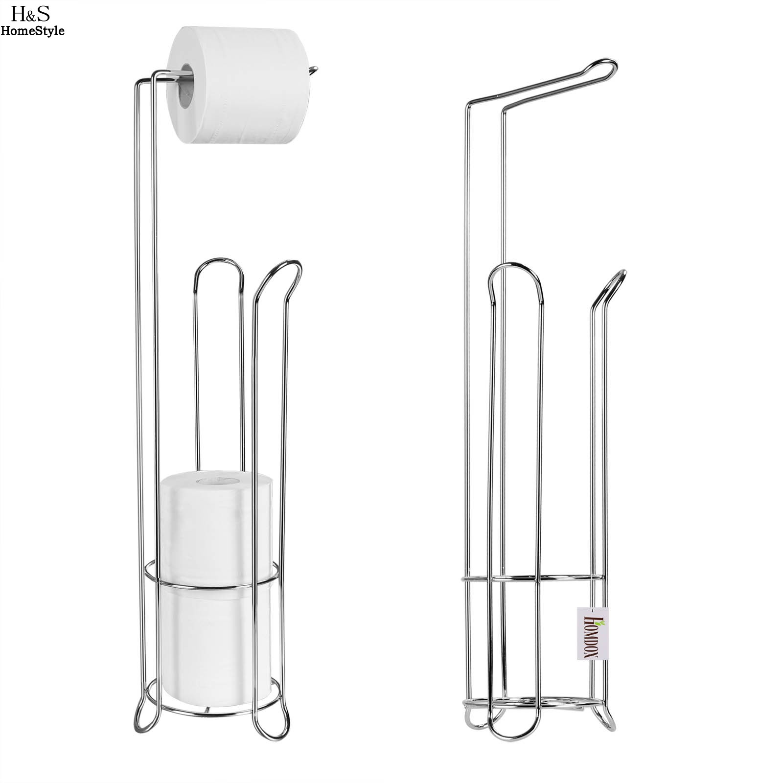 Bathroom and toilet accessories - Homdox New Stainless Steel Toilet Paper Roll Stand Holder Bathroom Storage Rack Tissue Organizer Toilet Accessories