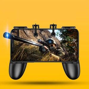 Image 2 - S12 Smart Phone Mobile Gaming Trigger PUBG Gamepad Controller L1R1 Shooter Trigger Fire Button Aim Key Joystick