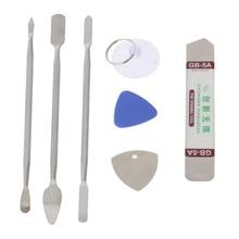 7pcs/set Hand Tools Metal Spudger Pry Opening Tools Kits Mobile Phone Repairing Tool for P