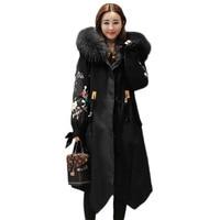 Women Winter Jacket Plus Size Large fur collar Hooded Parkas New Fashion Women Winter Jacket Long Coat Warm Clothes