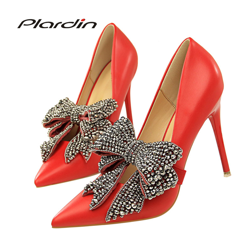 Plardin 2018 Spring Autumn The Women Thin Heels Women Pumps Career OL Sexy Ladies shoesConcise Women Shallow Mouth Shoes