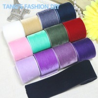 FREE SHIPPING High Quality DIY 3 8 CM Velvet Ribbon 13 Colors TOTAL 13 YARDS CAN