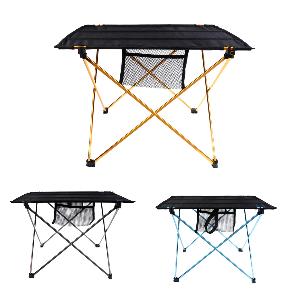Outdoor Aluminium Alloy Camping Folding Table Tavel Picnic Portable Desk for Hiking Fishing BBQ Boatin Durable Desk Accessories outdoor camping hiking picnic bags portable folding large picnic bag food storage basket handbags lunch box keep warm and cold