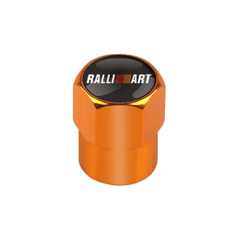 4 piezas de decoración de automóviles con válvulas de neumático y tapas de aire para Mitsubishi RalliArt Lancer Ralli Art 10 Asx Car emblemas Accesorios