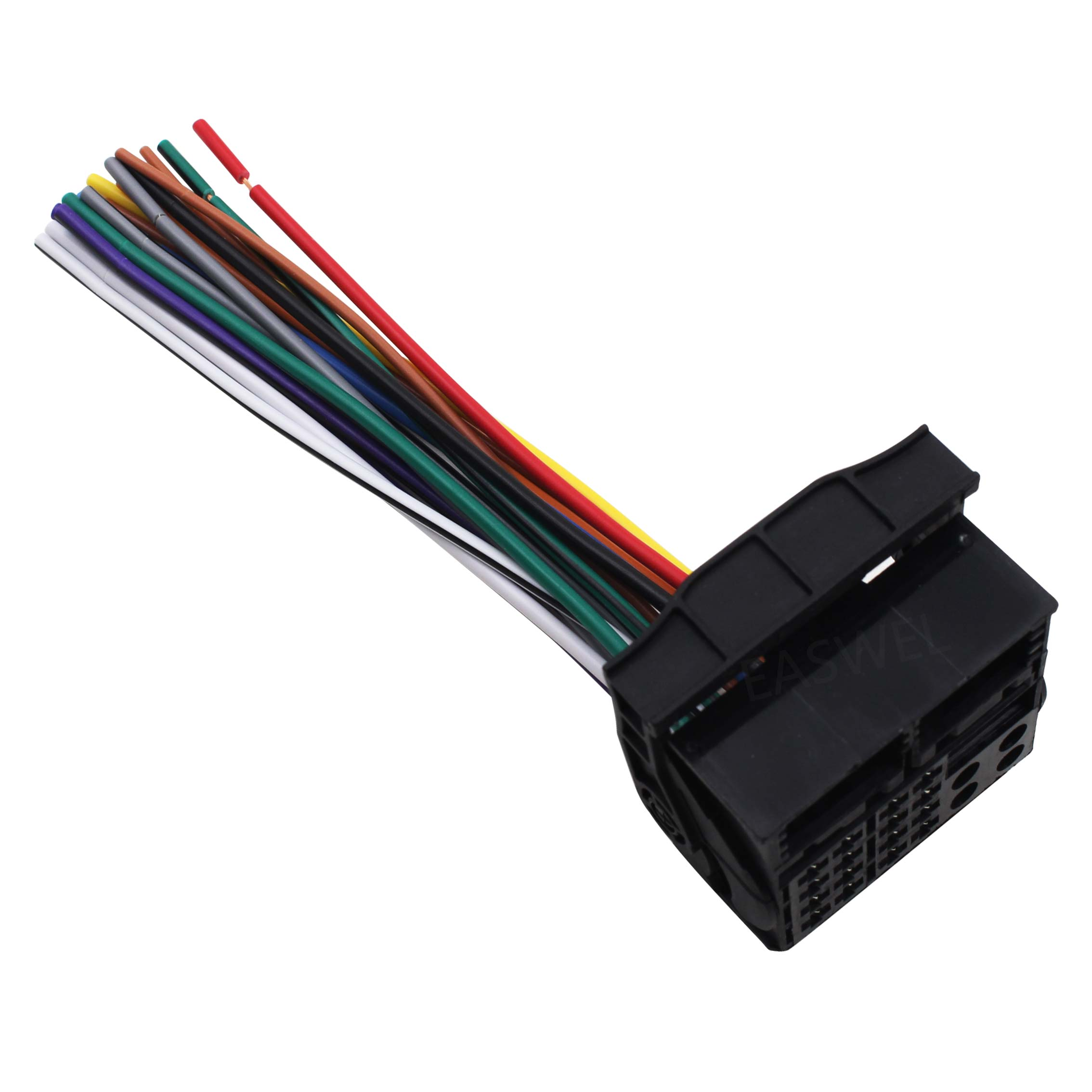 Car Stereo Radio Receiver Wiring Harness for Ford 2010 2012 ... on car wiring supplies, car stereo sleeve, leather dog harness, car stereo with ipod integration, car fuse, 95 sc400 stereo harness, car speaker, car stereo alternators, car stereo cover,