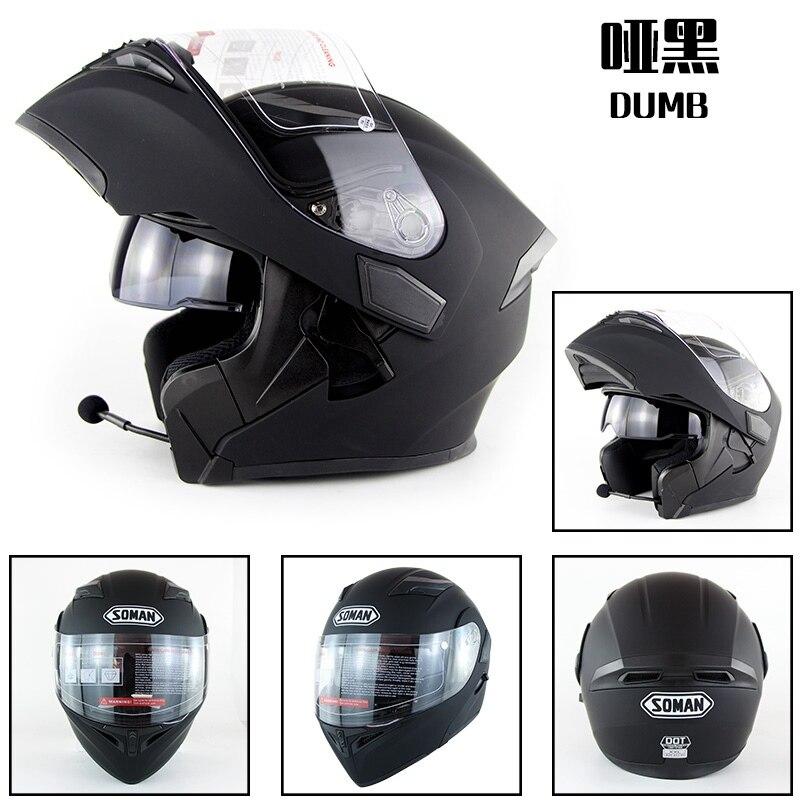 Встроенный Bluetooth шлем двойной линзы мотоцикл шлем флип вверх мотоцикл capacete КАСКО утверждение многоточия Зоман 955-БТ