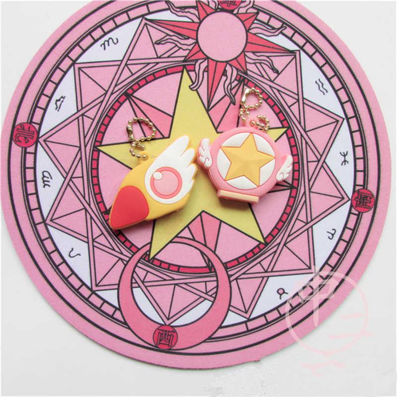Новый карта аниме Captor милый кулон Сакура птичка звезда волшебная палочка карнизы Косплей Porp брелок аксессуары подарок собирать