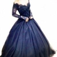 azul royal longo vestidos de baile vestidos