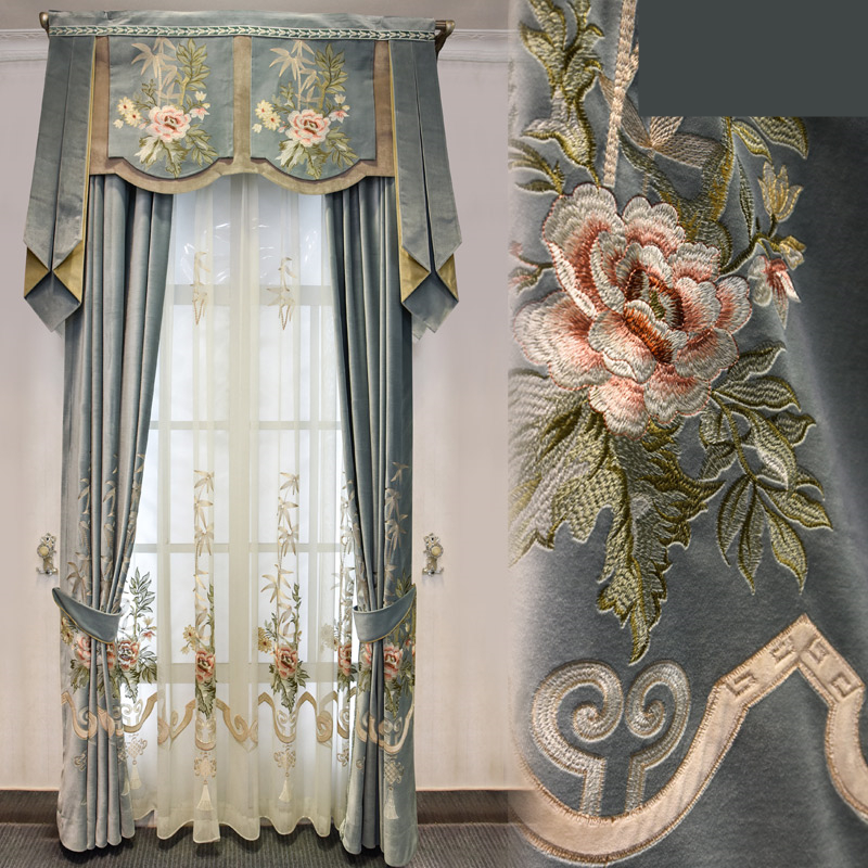 Huayin Velvet Linen Curtains Tulle Window Curtain For: Aliexpress.com : Buy Custom Curtains High Grade Silk