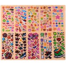 10 Листов Цветок Бабочка DIY Наклейки Пузырь Мультфильм Детские Наклейки Игрушки Pegatinas Emoji ПВХ Стикер Альбом Для Детей Подарок