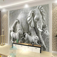 3d wallpaper stereo animal TV background wall professional custom mural photo