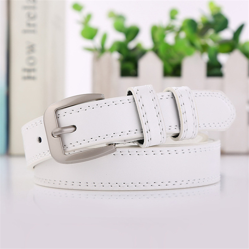 Double Line Belt For Ladies New Designer Fashion Women Belts Metal Leather Straps Female Waistband Pin Buckles Belt in Women 39 s Belts from Apparel Accessories