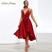 WildPinky vintage High-Split Maxi Sexy Women dress deep V-neck Solid Evening Party Dresses Clubwear Spaghetti Strap women