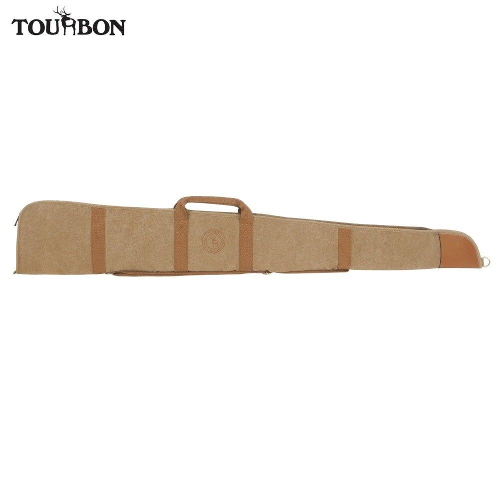 Bolsa de Lona Bolsa de Arma Tourbon Hunting Acessórios Case Velo Acolchoado Deslizamento Espingarda Tático Airsoft Arma Transportando 134 Centímetros Gun