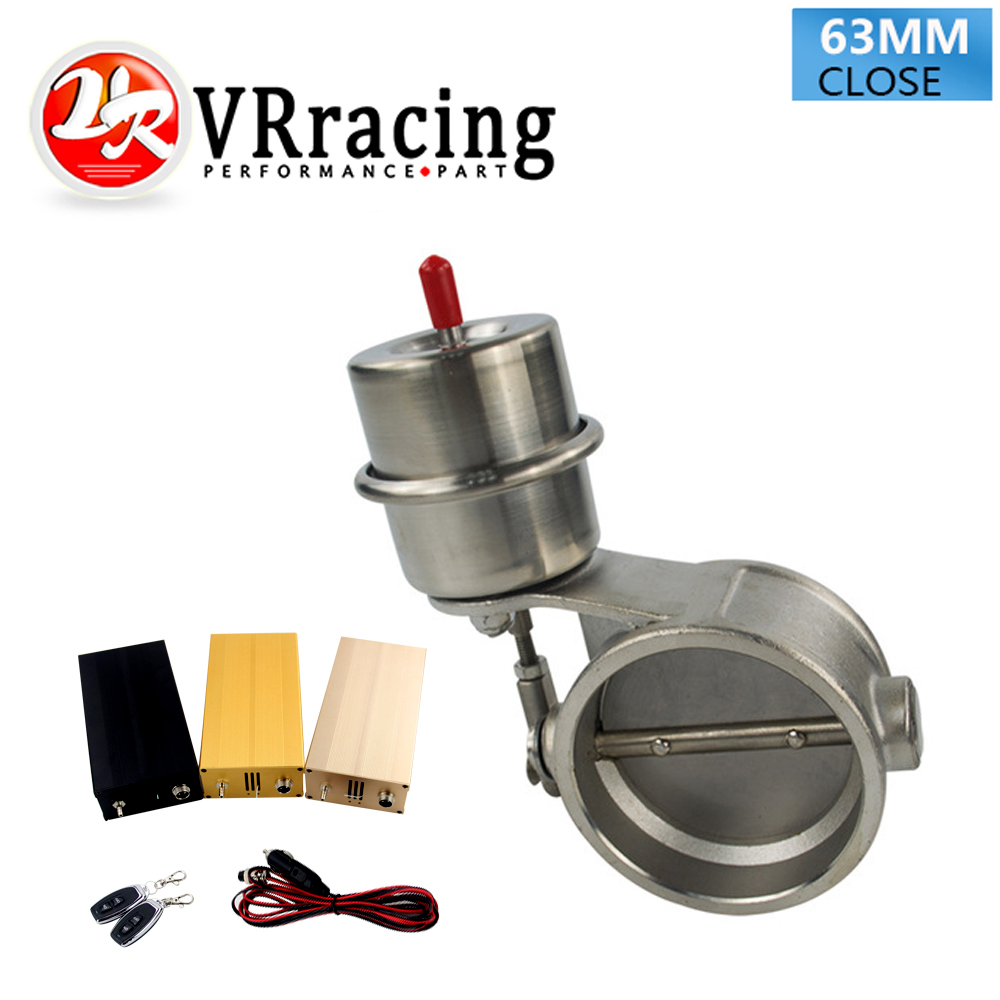 цена на VR RACING - Exhaust Control Valve With Vacuum Actuator Cutout 2.5 63mm Pipe CLOSED with ROD with Wireless Remote Controller Set
