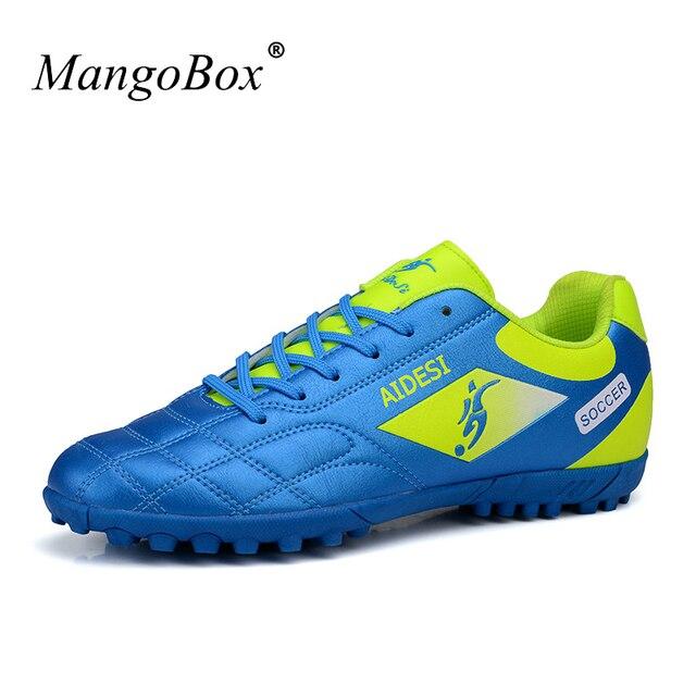 Новый Футбол бутсы Обувь спортивные шипы Ботинки футбола дети Для мужчин  дешевые Футбол бутсы кожа Training 693433955df