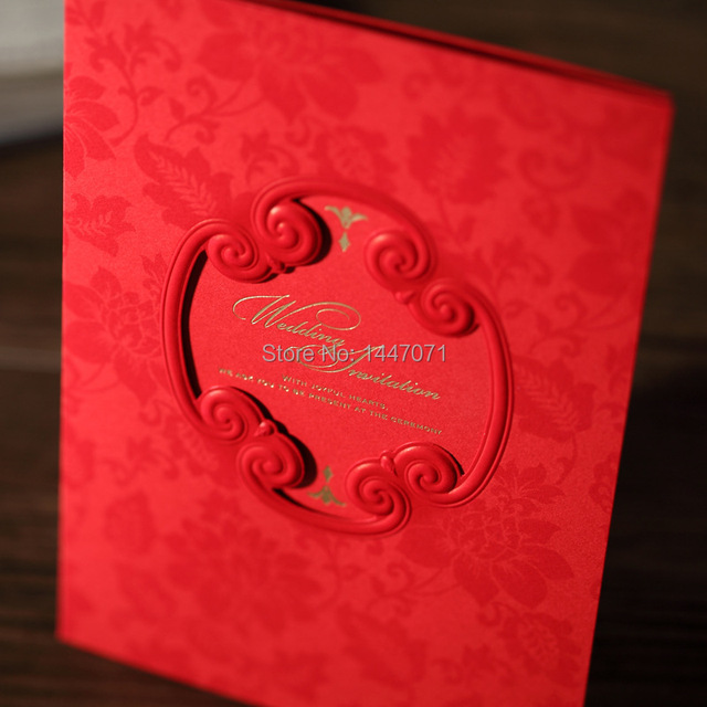 Selling Personalized Elegant Gilded Hollow Design Wedding Invitation