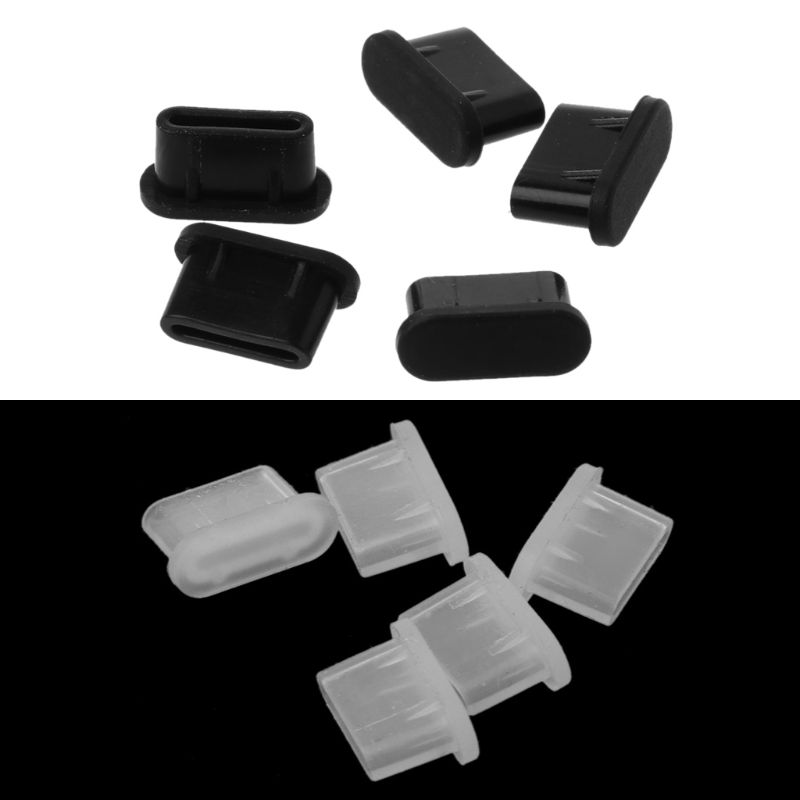 5PCS Type-C Dust Plug USB Charging Port Protector Silicone Cover for Samsung Huawei Smart Phone Accessories car seat