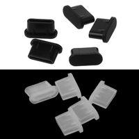 5PCS Typ C Staub Stecker USB Lade Port Beschützer Silikon Abdeckung für Samsung Huawei Smart Telefon Zubehör-in Staub-Stecker aus Handys & Telekommunikation bei