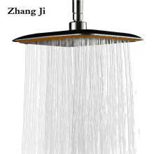 "ZhangJi 8"" Bathroom Functional Rainfall Shower Heads Square Big Handheld showerhead With Handle Amphibious Bath Shower ZJ047"