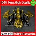 7gifts Gold black  For SUZUKI GSXR750 08-10 GSXR 600 750 08 09 10 4MC823  Golden black K8 GSX R600 R750 2008 2009 2010 Fairing