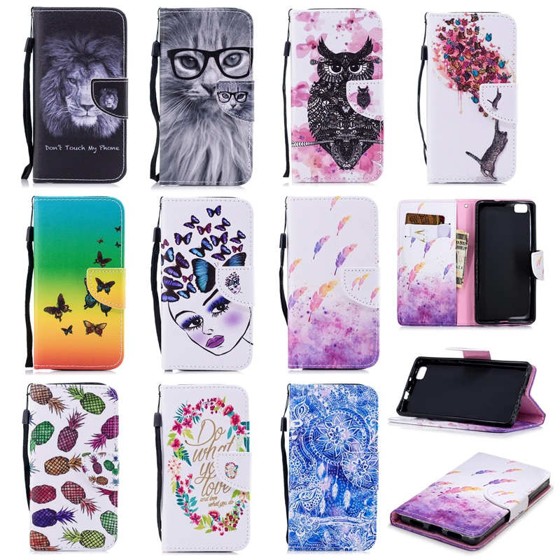 Leather Phone Case For Huawei P8 P8 Lite 2017 P9 Lite P10 P20 Lite Wallet Flip Cover For P10 P20 P20 Pro Bags Card Pocket in Flip Cases from Cellphones Telecommunications