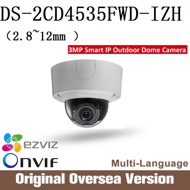 Hikvision DS-2CD4535FWD-IZH Ip Camera Cctv dome 1080p Poe Ip67 da hua English Version H265 da hua cctv security WDR Onvif RJ45 cd диск fleetwood mac rumours 2 cd
