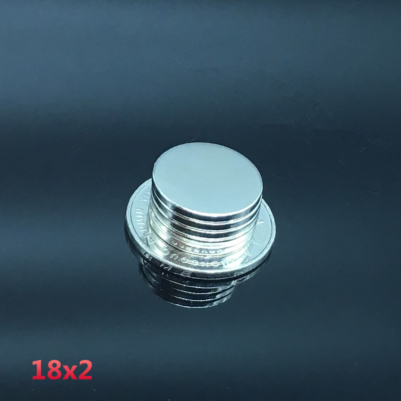 10PCS Super Strong Neodymium Round Disc Rare-Earth Fridge Magnet 18x2mm N35 //