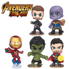 Avengers 4 Endgame Car Ornaments Bobblehead Doll Thanos Iron Man Marvel Super Heroes Action Figures Model Toys Compatible Legoed avengers marvel comics super heroes 43cm iron man body action figuers resin model toys collectible figurines for home decoration