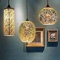 3D creative stained glass bar restaurant lights chandelier, vintage clothing store cafe bar salon lighting