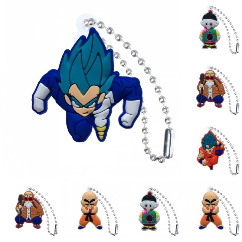 1pcs PVC Keychain Cartoon Figure Dragon Ball Key Chain Ball Chain Key Holder Kid Christmas Gift Fashion Charms Trinkets