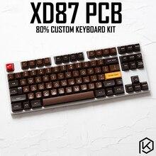 Kit de teclado mecânico personalizado, xd87 xd87 xd80 80% suporte TKG TOOLS rgb pcb programado gh80 kle tipo c