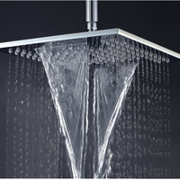 Rainfall waterfall square 10 inch bathroom rainfall shower head brass thicker showerheads wall mounted shower chrome.jpg 200x200