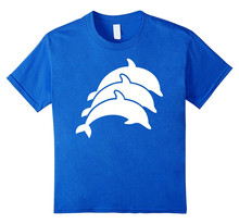 Buy T Shirts Hilarious Crew Neck Short Three Dolphins Gift Mens