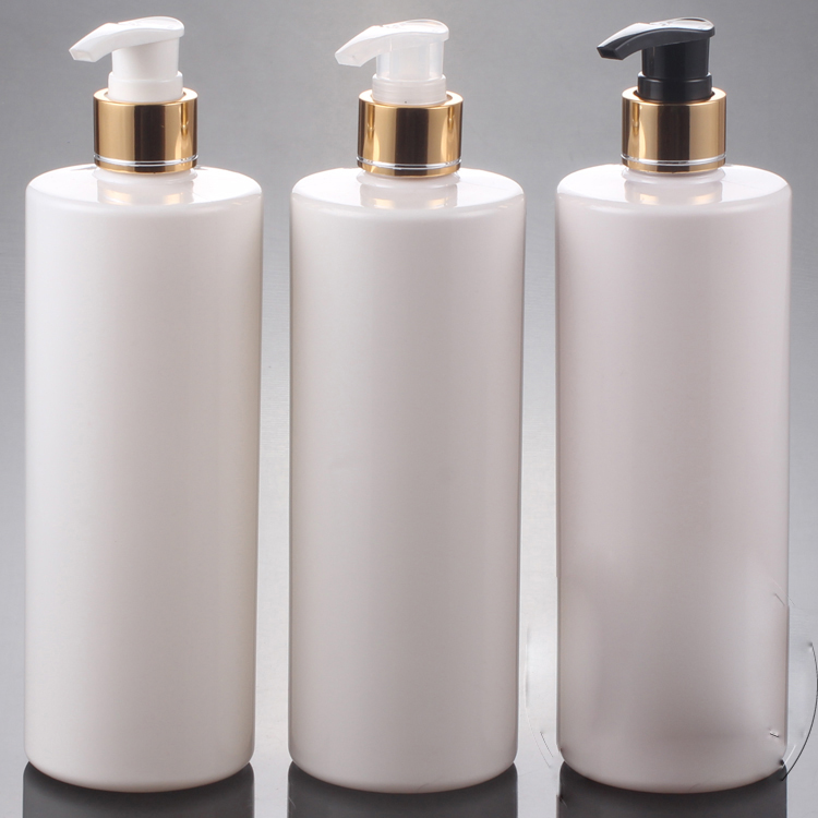 20pcs lot 500ML PET Lotion Pump Bottle Amber Plastic Cosmetic Container Empty Shampoo Sub bottling Essential
