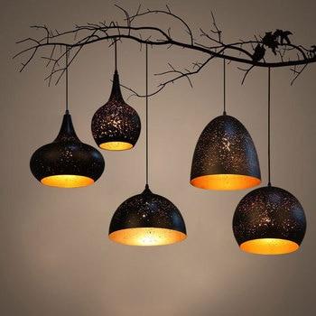 Nordic loft retro Cafe Bar Lamp Iron single head bar restaurant industrial wind rust pendant light ZH GY27